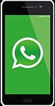 mobile phone with whatsapp logo